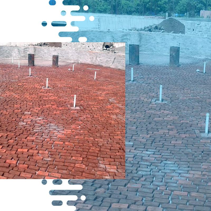 brick bat coba waterproofing procedure